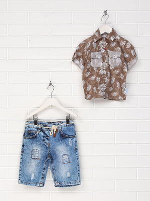 Костюм: сорочка та шорти | 4305443