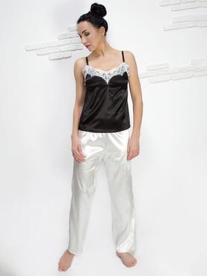 Брюки ванильного цвета пижамные | 5303135