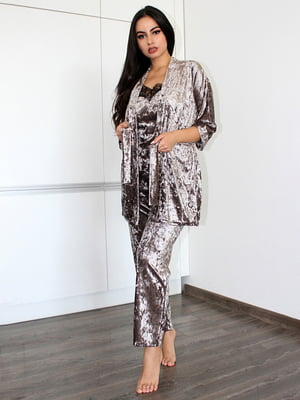 Комплект: майка, халат и брюки | 5303196