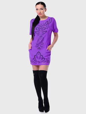 Сукня-туніка бузкова | 5303252