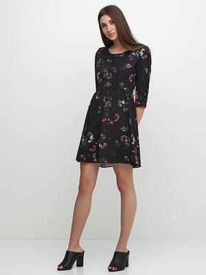 Платье черное в принт | 5325898
