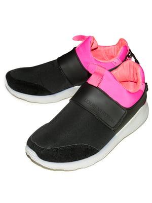 Кроссовки черно-малиновые   5332299