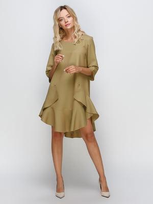 Сукня оливкового кольору   5332309