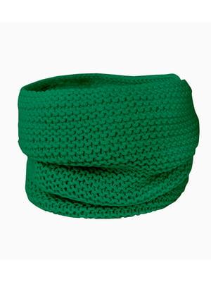 Шарф-снуд зелений | 5336804