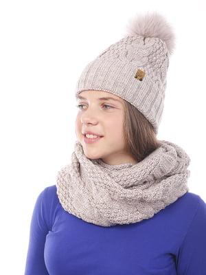 Комплект: шапка і шарф-снуд | 5336949