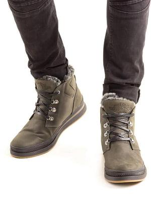 Ботинки оливкового цвета | 5336873