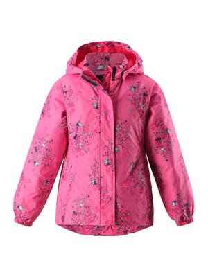 Куртка рожева в квітковий принт | 5328850