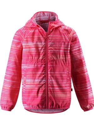 Ветровка розовая в полоску   5328919