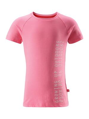 Футболка розовая в принт   5329002
