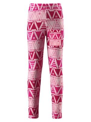 Легінси рожеві з орнаментом | 5329038