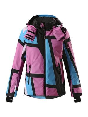 Куртка комбинированного цвета в абстрактный принт | 5329300