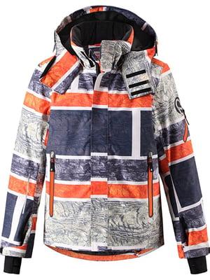 Куртка комбинированного цвета в абстрактный принт | 5329340