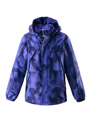 Куртка синяя в принт | 5329373