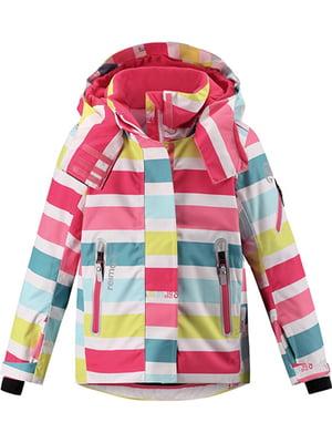 Куртка разноцветная в полоску   5329377