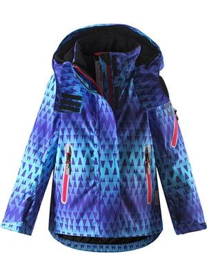 Куртка фиолетовая с орнаментом   5329384