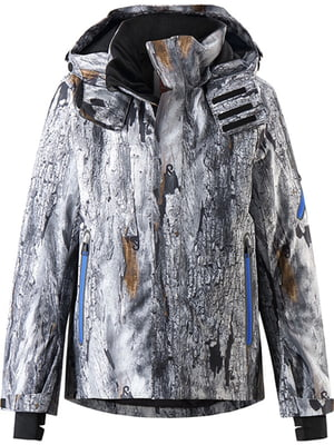 Куртка серая в размытый принт | 5329534