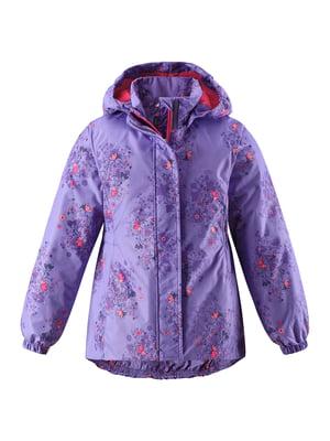 Куртка бузкова в квітковий принт | 5329561