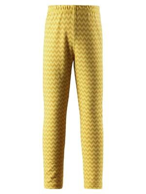 Легінси жовті в зигзагоподібну смужку | 5329571