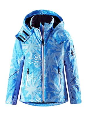 Куртка голубая в принт | 5329661