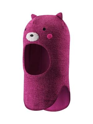 Шапка-шлем фиолетовая с рисунком | 5330421