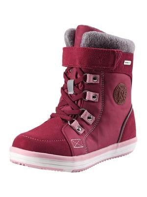 Ботинки вишневого цвета | 5330709