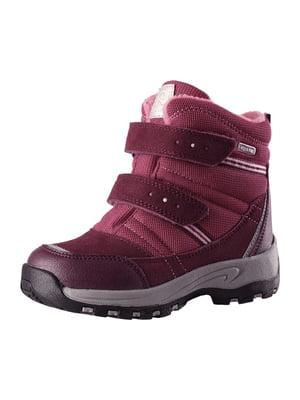 Ботинки вишневого цвета | 5331118