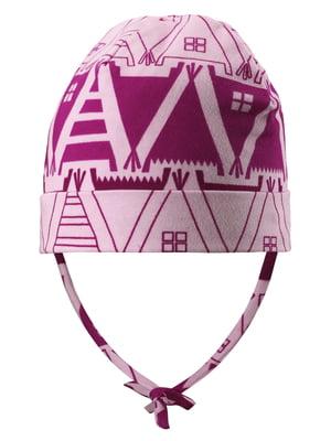 Шапка розовая с орнаментом | 5331417
