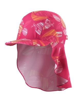 Кепка розовая с принтом | 5331430