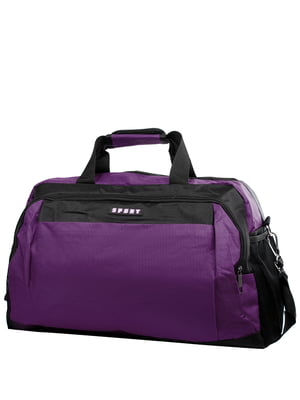 Сумка фіолетово--чорна спортивна | 5337330