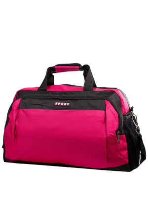 Сумка рожево-чорна спортивна | 5337332