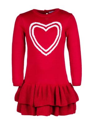 Платье красное с рисунком | 4791666
