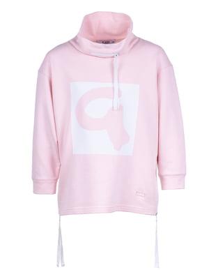 Худи розовая с принтом | 5327888