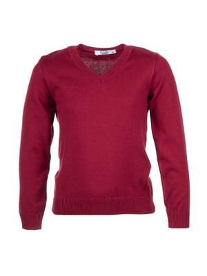 Пуловер бордовый | 5327904