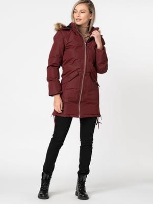 Пальто бордовое | 5337638