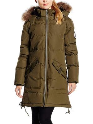 Пальто цвета хаки | 5337650