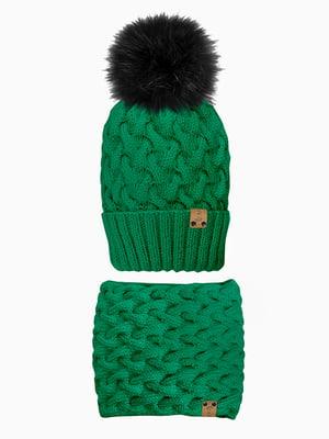 Комплект: шапка і шарф-снуд | 5336715