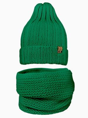 Комплект: шапка і шарф-снуд | 5336982