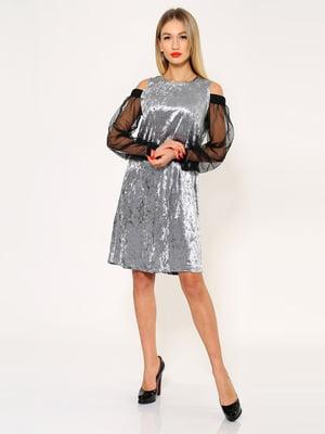 Платье серебристо-черное | 5337788