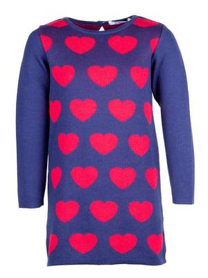 Сукня синя з малюнком   4791663
