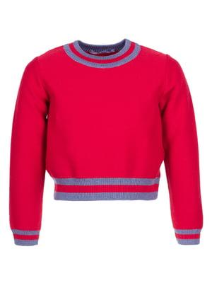 Джемпер червоно-сірий | 5327840