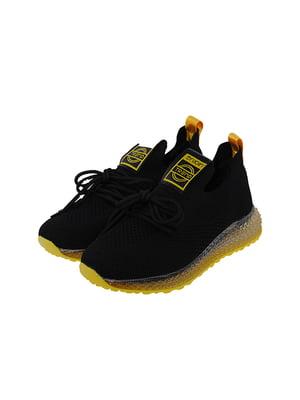 Кроссовки черно-желтые | 5328736