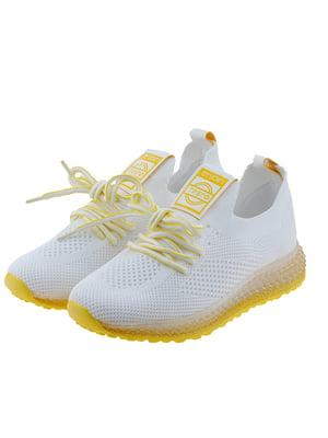 Кроссовки бело-желтые | 5328762