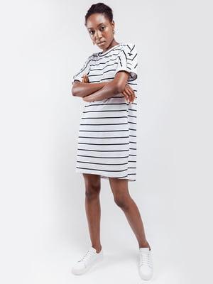 Сукня біла в смужку | 5340013