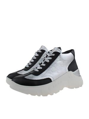 Ботинки черно-серебристые | 5341130
