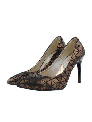 Туфли черно-золотистые   5341217