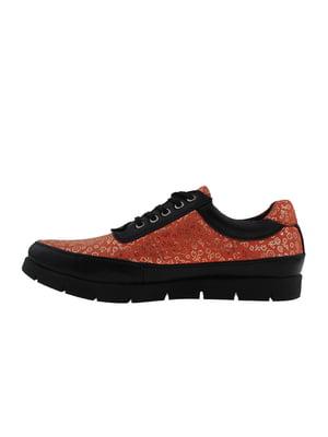 Туфли кораллово-черного цвета   5341227