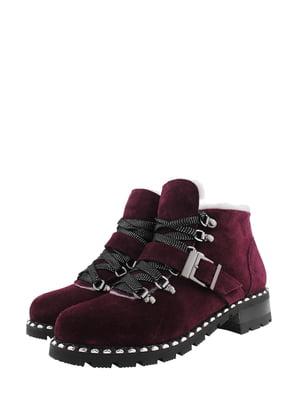 Ботинки цвета марсала | 5341273