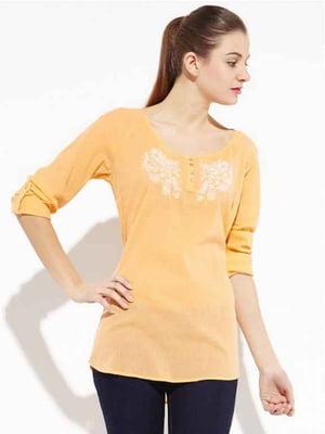 Блуза помаранчева з малюнком   5285665