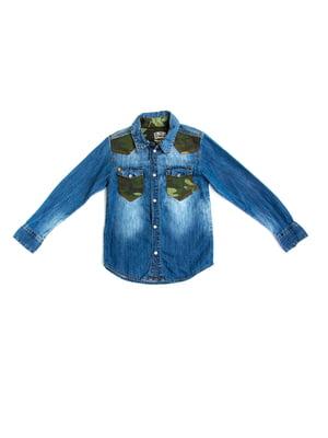 Рубашка голубая | 5339666