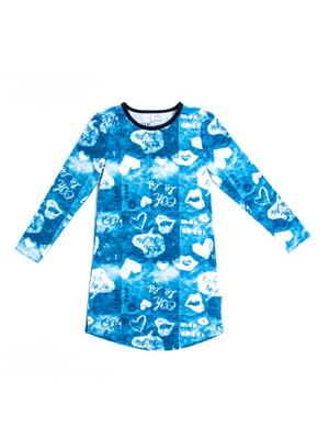 Нічна сорочка в принт | 5339556